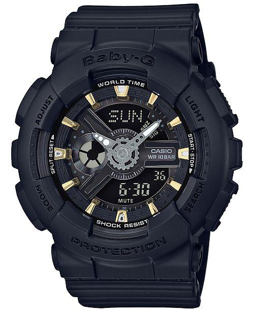 Baby-G Women's Analog-Digital Black Resin Strap Watch 43x46mm BA110GA-1A