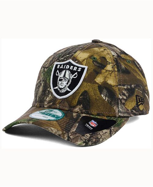 New Era Oakland Raiders The League Realtree 9FORTY Cap - Sports Fan ... 181bc0fa437a