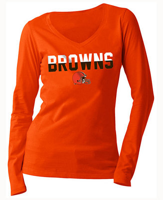 5fca642b2 5th   Ocean Women s Cleveland Browns Huddle LE Long Sleeve T-Shirt - Sports  Fan Shop By Lids - Men - Macy s