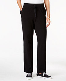 Karen Scott Petite Drawstring Active Pants, Created for Macy's