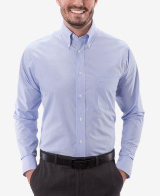 Eagle Mens Mens Dress Shirt Stretch Collar Regular Fit Stripe Dress Shirt