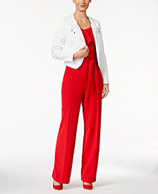 Thalia Sodi Moto Jacket & Jumpsuit, Created for Macy's