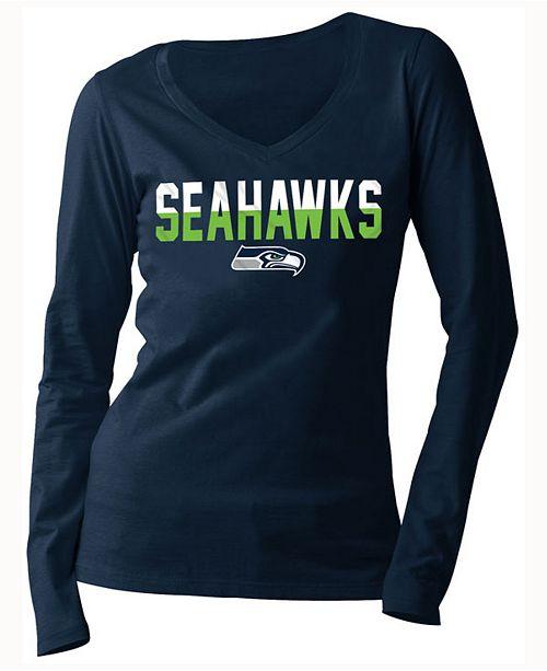 5th & Ocean Women's Seattle Seahawks Huddle LE Long Sleeve T-Shirt