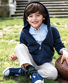 Ralph Lauren Full-Zip Hoodie, Blake Oxford Shirt & Suffield Pants, Little Boys