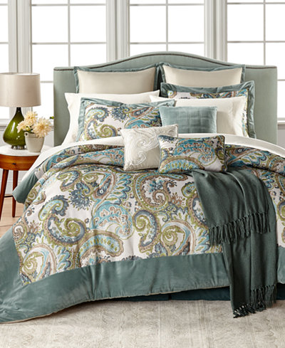 CLOSEOUT! Sydney 14-Pc. Comforter Sets - Bed in a Bag - Bed & Bath ...