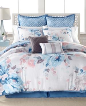 Closeout Lucia 8Pc Reversible Queen Comforter Set Bedding