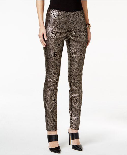 Alfani Metallic Paisley-Print Pants, Created for Macy's