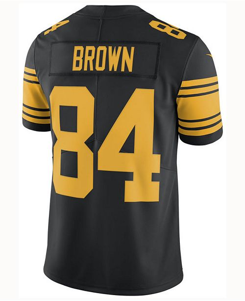 new concept 98127 83b31 Men's Antonio Brown Pittsburgh Steelers Limited Color Rush Jersey