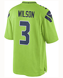 Nike Men's Russell Wilson Seattle Seahawks Limited Color Rush Jersey