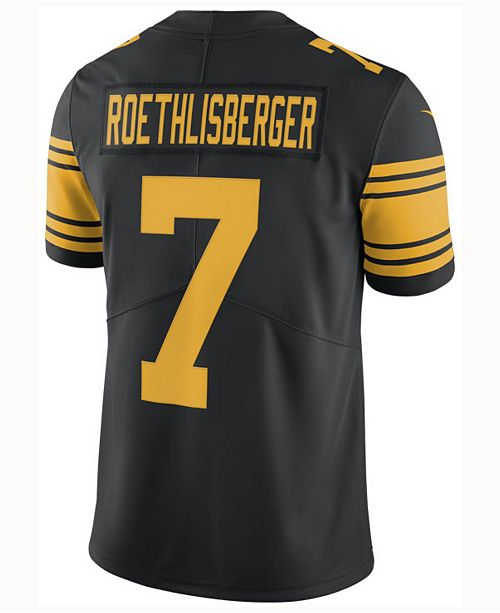Nike Men's Ben Roethlisberger Pittsburgh Steelers Limited Color Rush Jersey