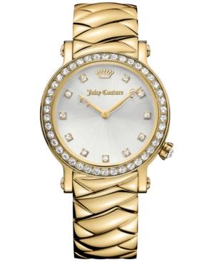 Juicy Couture Women's La Luxe Gold-Tone Stainless Steel Bracelet Watch 36mm 1901488