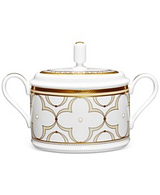 Trefolio Gold Dinnerware Collection 2-Pc. Covered Sugar Dish