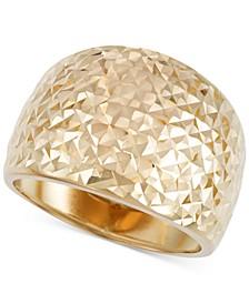 Textured Statement Ring in 14k Gold