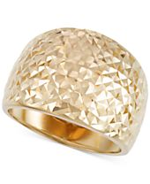 Italian Gold Textured Statement Ring in 14k Gold