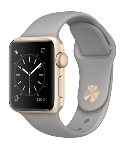 Apple Watch Series 2 38mm Gold-Tone Aluminum Case with Concrete Sport Band