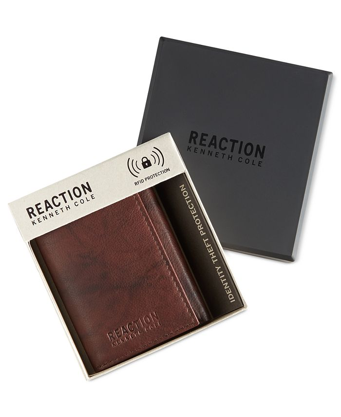 Kenneth Cole Reaction - Men's Crunch RFID Extra-Capacity Trifold Wallet