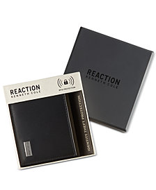 Kenneth Cole Reaction Men's Leather Nappa RFID Extra-Capacity Slimfold Wallet