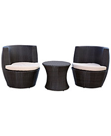 Isabelle Outdoor Wicker 3-Pc. Bistro Chair Set, Quick Ship