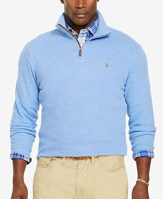 Polo Ralph Lauren Big & Tall Men's Estate Rib Half-Zip Sweater ...