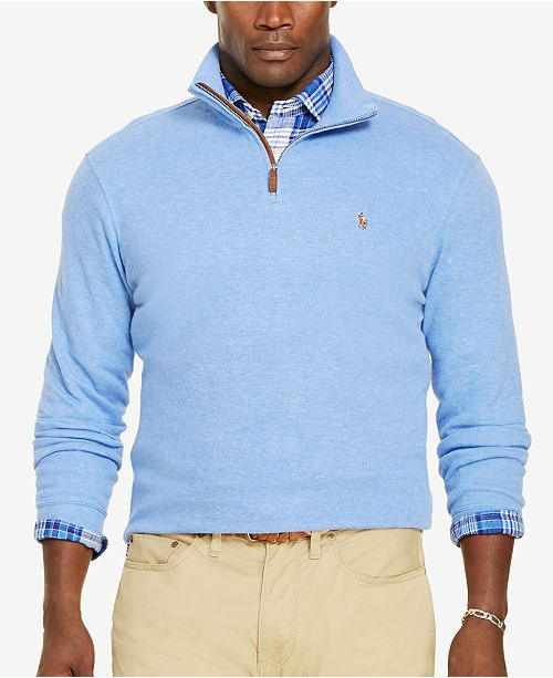 Polo Ralph Lauren Big & Tall Men's Estate Rib Half Zip