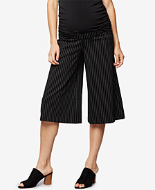 A Pea In The Pod Maternity Wide-Leg Cropped Pants