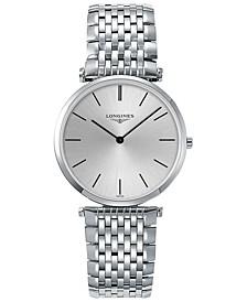 Men's Swiss La Grande Classique de Longines Stainless Steel Bracelet Watch 36mm L47554726