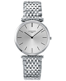 Longines Men's Swiss La Grande Classique de Longines Stainless Steel Bracelet Watch 36mm L47554726