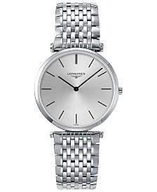 Longines Men's Swiss La Grande Classique de Longines Stainless Steel Bracelet Watch 36mm L47554726