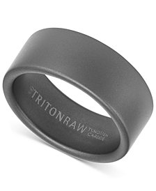 Triton Pure Raw Men's Wide Band in Tungsten