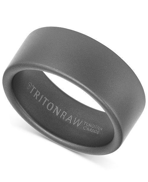 Triton Pure Raw Men's Wide Band in Tungsten
