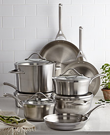 Calphalon Contemporary Stainless Steel 13-Pc. Cookware Set