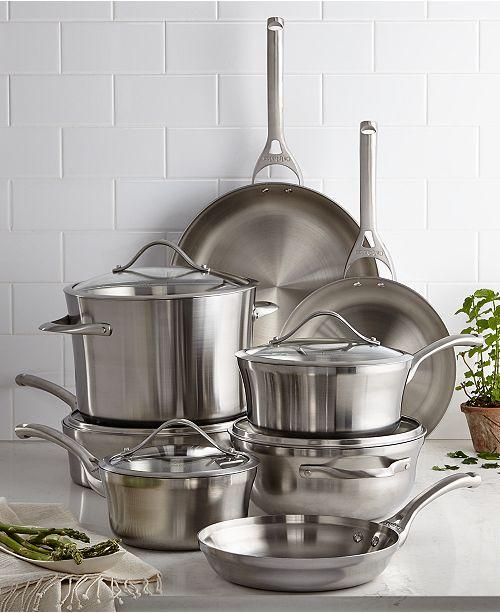 Calphalon Kitchen Outlet: Calphalon Contemporary Stainless Steel 13-Pc. Cookware Set