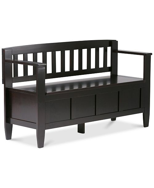 Simpli Home Winslow Entryway Storage Bench