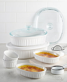 corningware french white 10 pc bakeware set created for macys