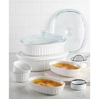 Deals on Corningware French White 10-Pc. Bakeware Set