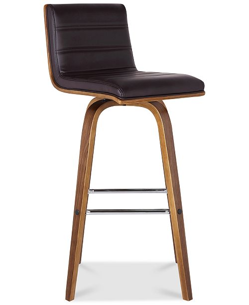 Excellent Vienna 26 Counter Height Barstool In Walnut Wood Finish With Grey Faux Leather Creativecarmelina Interior Chair Design Creativecarmelinacom