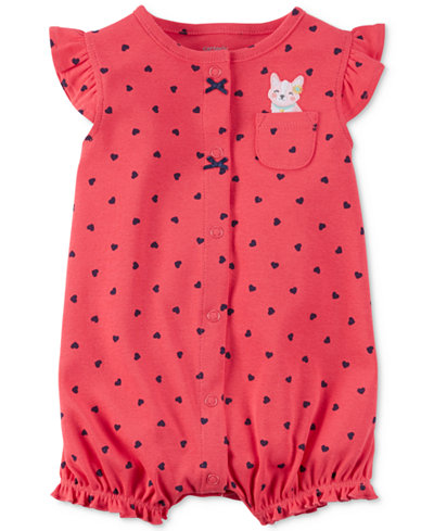 Carter's Heart-Print Cat Romper, Baby Girls (0-24 months)