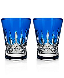 Lismore Pops Double Old Fashioned Glass Pair