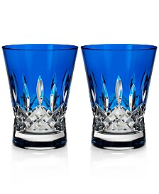 Waterford Lismore Pops Double Old Fashioned Glass Pair