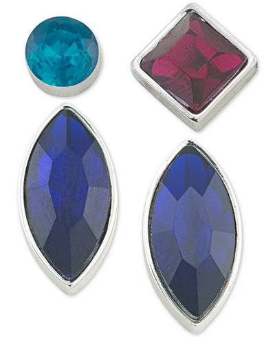 ABS by Allen Schwartz Silver-Tone 4-Pc. Mix-and-Match Earring Set