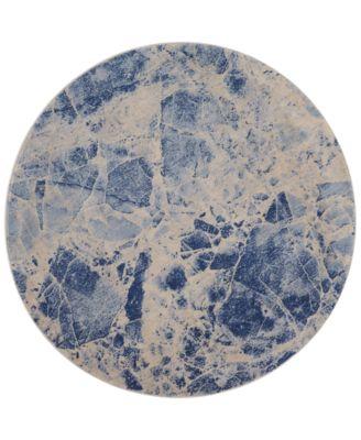 """CLOSEOUT! Moraine MO745 Blue 5'6"""" Round Area Rug"""