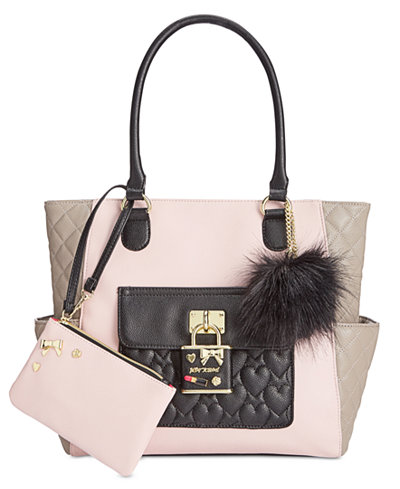Betsey Johnson 2-in-1 Pin Tote with Pouch, Only At