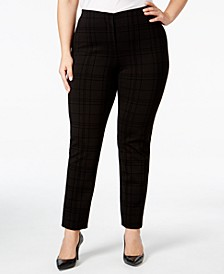 Plus Size Hollywood Printed Skinny Pants, Created for Macy's