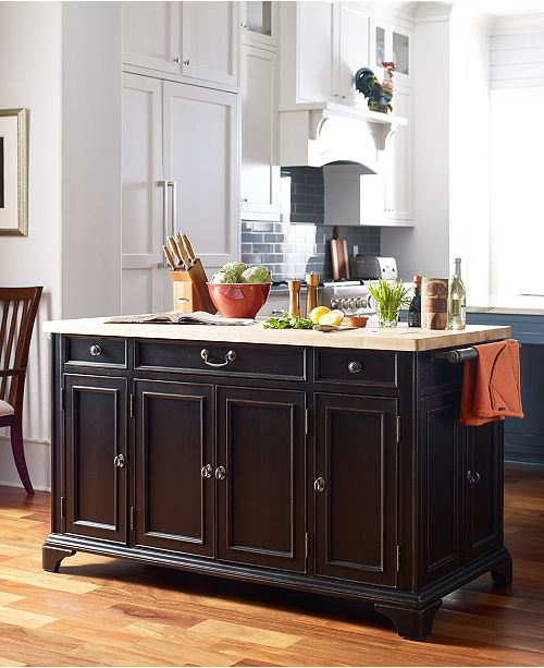 Furniture Rachael Ray Upstate Home Kitchen Island & Reviews ...
