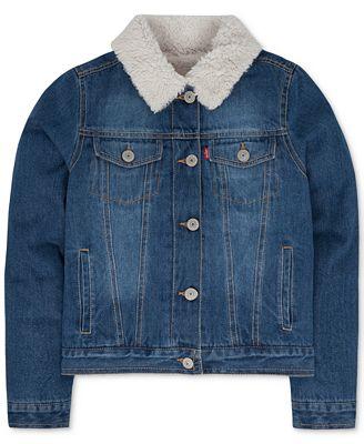 Levi's® Faux-Fur Denim Jacket, Little Girls (4-6X) - Coats ...