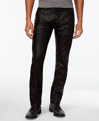 INC International Concepts Men's Slim-Fit Black Metallic Jeans ...