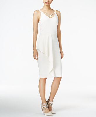 Bar III Draped Bodycon Dress, Created for Macy's
