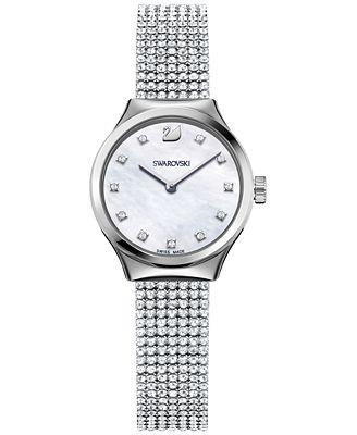 Swarovski Women's Dreamy White Crystal Mesh Watch