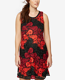 Taylor Maternity Lace Fit & Flare Dress