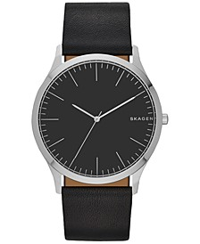 Men's Black Leather Strap Watch 41mm SKW6329